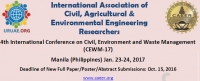 4th International Conference on Civil, Environment and Waste Management (CEWM-17)