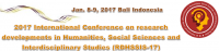 2017 International Conference on Research Developments in Humanities, Social Sciences and Interdisciplinary Studies (RDHSSIS-17)