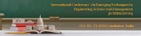 7th International Conference on Emerging Techniques in Engineering, Science & Management
