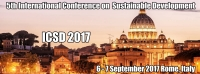 ICSD 2017 : 5th International Conference on Sustainable Development
