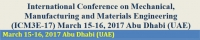 International Conference On Mechanical, Manufacturing And Materials Engineering (ICM3E-17)