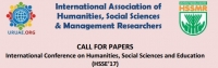International Conference on Humanities, Social Sciences and Education (HSSE - 17)