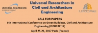 6th International Conference on Green Buildings, Civil and Architecture Engineering (ICGBCAE'17)